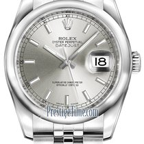 Rolex Datejust 36mm Stainless Steel 116200 Silver Index Jubilee