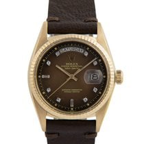Ρολεξ (Rolex) 18k Day-Date, Brown Degrade Stella Diamond Dial,...