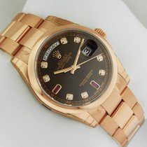 Ρολεξ (Rolex) Day-Date Oyster RG 36mm 118205 Chocolate...