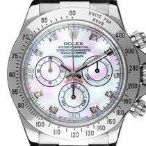 Rolex Daytona Custom Cosmograph Diamond  Perlmutt Stahl...