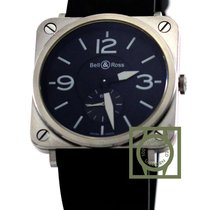 Bell & Ross BR S 39mm Black Dial Rubber Strap NEW