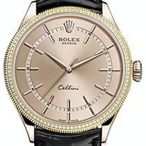 Rolex Cellini Time 50605RBR-0011 Pink Index Diamond Bezel Rose...