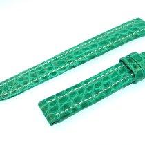 Breitling Band 15mm Croco Green Verde Strap Für Ib15-08