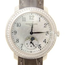 Patek Philippe Complications 18k White Gold Silver Manual Wind...