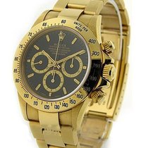 Rolex Used 16528_used_blk_stick Yellow Gold Daytona - ZENITH...