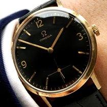 Omega Lady Ladies Unisex 18 carat solid gold black dial vintage