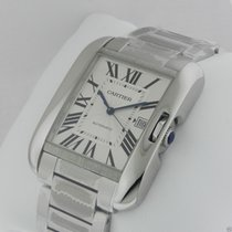 Cartier Tank Anglaise LARGE 18kt White Gold AUTHENTIC w5310025