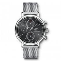 IWC Portofino Chronograph  Black Dial Automatic IW391010 Mens...