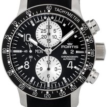 Fortis Stratoliner Chronograph Steel Mens Watch Day Date...