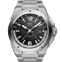 IWC IW324402 Ingenieur Dual Time 43mm in Steel - on Steel...
