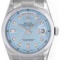 Rolex President Day-Date Men's 18k White Gold Watch Custom...
