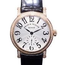 Franck Muller Vintage 18k Pink Gold Diamond Silver Automatic...
