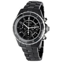 Chanel J12 Black Ceramic Automatic Chronograph H0940