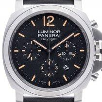 Panerai Luminor Daylight Chronograph Stahl Automatik Armband...