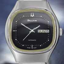 Bulova Mens Swiss Made Automatic Vintage Stainless Steel Watch...