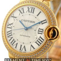 Cartier Ballon Bleu Collection 18k Yellow Gold Diamond Bezel...