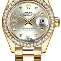 Rolex Lady Datejust 28mm Yellow Gold 279138RBR Silver 17...