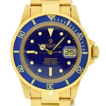 Rolex Submariner Blue Nipple Dial 18K Yellow Gold