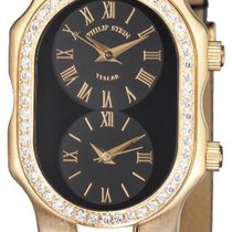 Philip Stein 18KT SOLID GOLD Diamond SMALL Dual Time watch