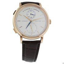 A. Lange & Söhne Saxonia Dual Time 18k Rose Gold NEW 385.032