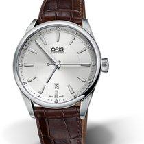 Oris CULTURA ARTIX DATE Steel-Silver Dial-Brown Leather Strap