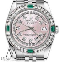 劳力士  (Rolex) Ladies Rolex 36mm Datejust Pink String Diamond...