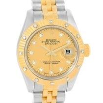 Rolex Datejust Ladies Steel 18k Yellow Gold Diamond Watch 179313