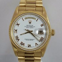 Rolex President Day Date Mens 18k Gold 18038 Factory Roman...