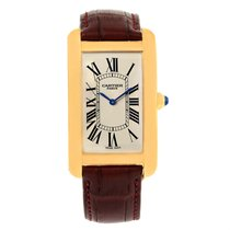Cartier Tank Americaine Paris Yellow Gold Mechanical Mens...
