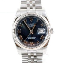 "Rolex Mens ""New Style"" Datejust - Blue Roman Dial -..."