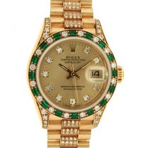 Rolex Datejust 26 Lady 69198 Im Yellow Gold, Diamonds And...