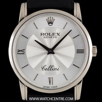 Rolex 18k White Gold Silver Dial Cellini Gents Wristwatch 5116