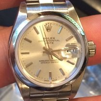 Rolex Ladies Ss Date 79160 Quickset Circa 2002 Silver Index...