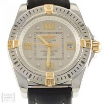 Breitling Uhr Cockpit Lady Diamonds Quarz Edelstahl/Gold Ref....