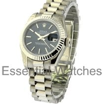 Rolex Unworn 179179 Ladys President in White Gold with Fluted...
