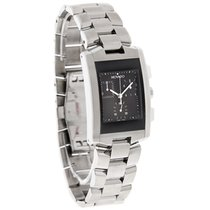 Movado Eliro Chronograph Mens Black Dial Stainless Steel Watch...