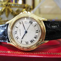 Cartier Cougar 18k Yellow Gold 32mm Date 18k Solid Deployment...