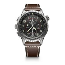 Victorinox Swiss Army Airboss Match 9 grey dial, steel, date,...