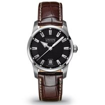 Union Glashütte Seris Datum Herrenuhr Medium schwarz