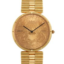 Certified Pre-Owned Corum Mens Yellow Gold $20 Coin Quartz...