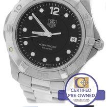 TAG Heuer Aquaracer Black Diamond 39mm Stainless Quartz Watch...
