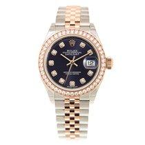 Rolex Lady Datejust 18k Gold Diamond Steel Brown Automatic...