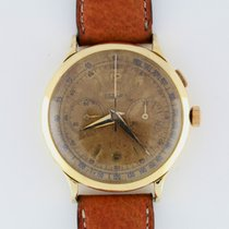 Eberhard & Co. Pre Extra Fort Mono Pusher 18K Gold Aged Dial