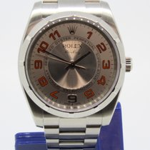 Rolex Airking 114210 Orange Arabic Dial Papiere