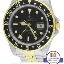 Rolex GMT-Master II 16713 Two-Tone 18K Stainless Black Date...