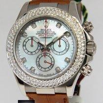 Rolex Daytona Chronograph 18k White Gold Diamond MOP Watch...