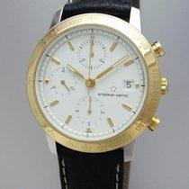 Eterna - Matic Kontiki Chronograph 1856 -Stahl-Gold 18k/750