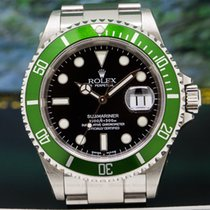 "Rolex 16610LV 16610 LV ""FLAT 4"" Submariner 50th..."