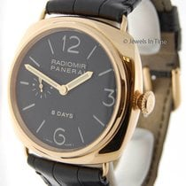 Panerai Radiomir 8 Day 18K Rose Gold Mens Watch 197 G