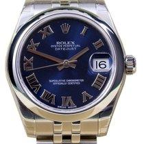 Rolex Datejust 178240-BLURJ Ladies Midsize 31mm Blue Roman...